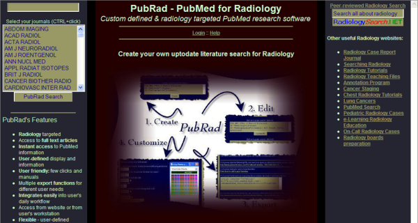 Educational treasures in Radiology: A highly customizable Radiology specific search engine